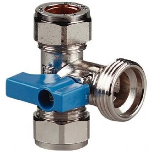 Washing machine tee valve